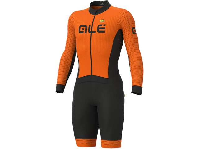 Alé Cycling PR-S Fuga DWR Ciclocross Combinaison manches courtes Homme, fluo orange/masai red